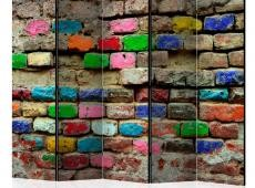 Paraván - Colourful Bricks II [Room Dividers]